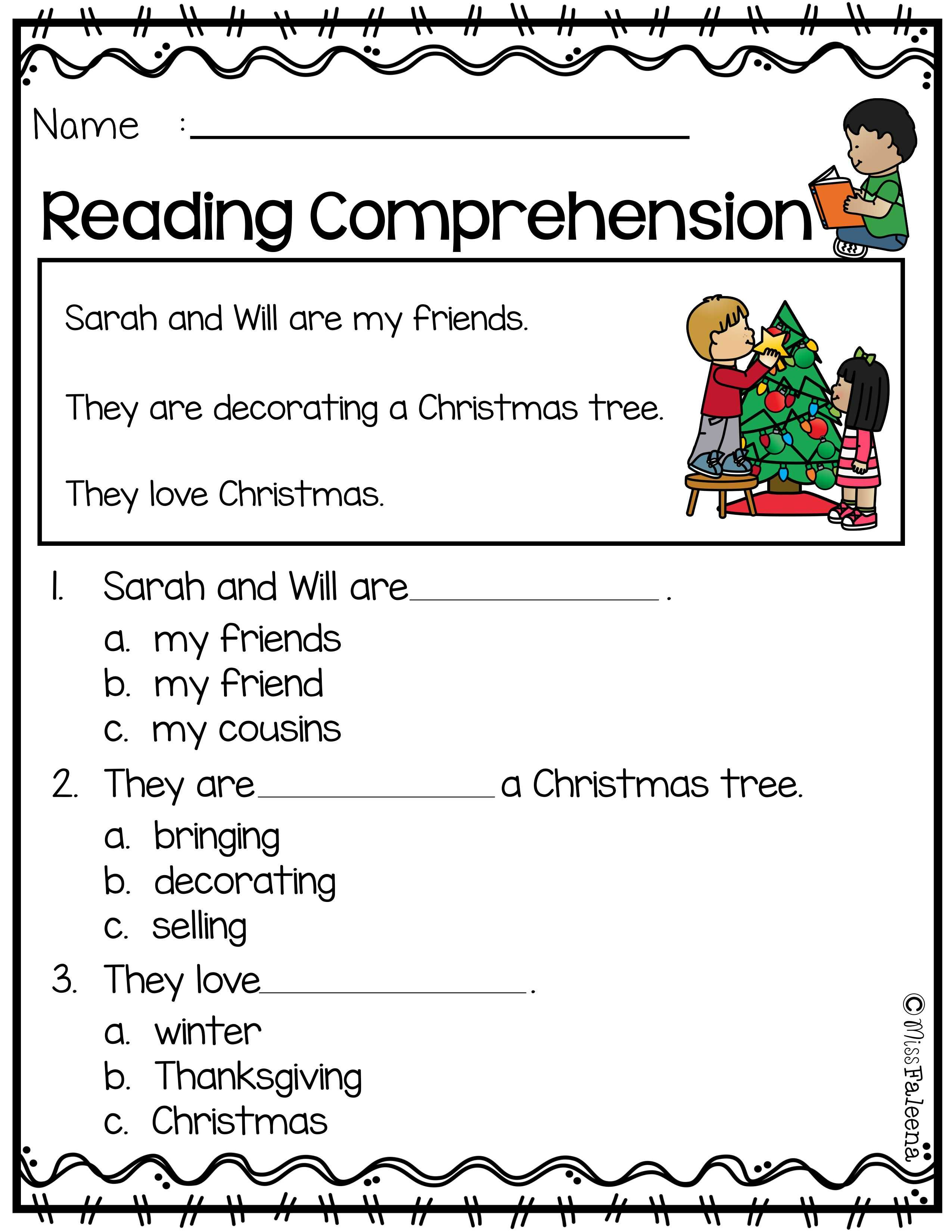 December Reading Comprehension