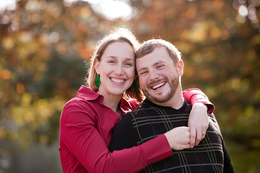Cute older couple pose