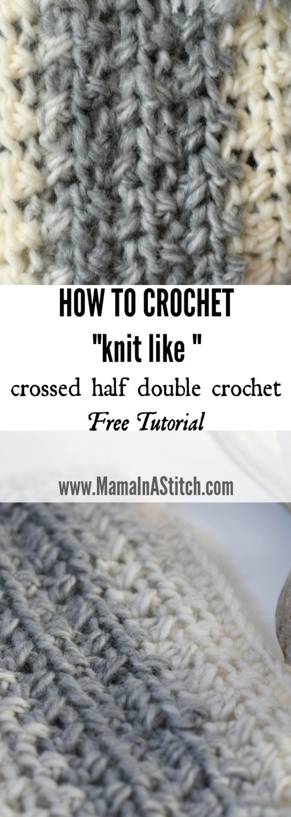 Crossed Half Double Crochet Stitch Tutorial | Maggie\'s Crochet - All ...