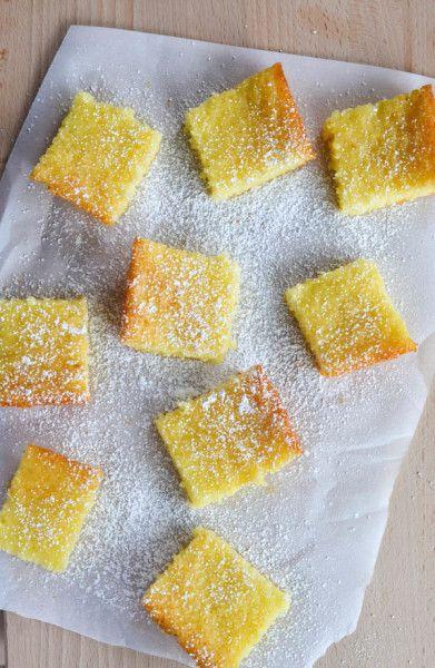 Two ingredient lemon bars