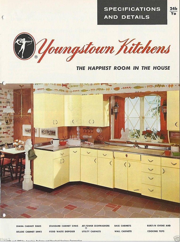 1957 Youngstown Steel Kitchen Cabinets Mid Century Modern Design Vintage Catalog Steel Kitchen Cabinets Mid Century Modern Design Steel Kitchen