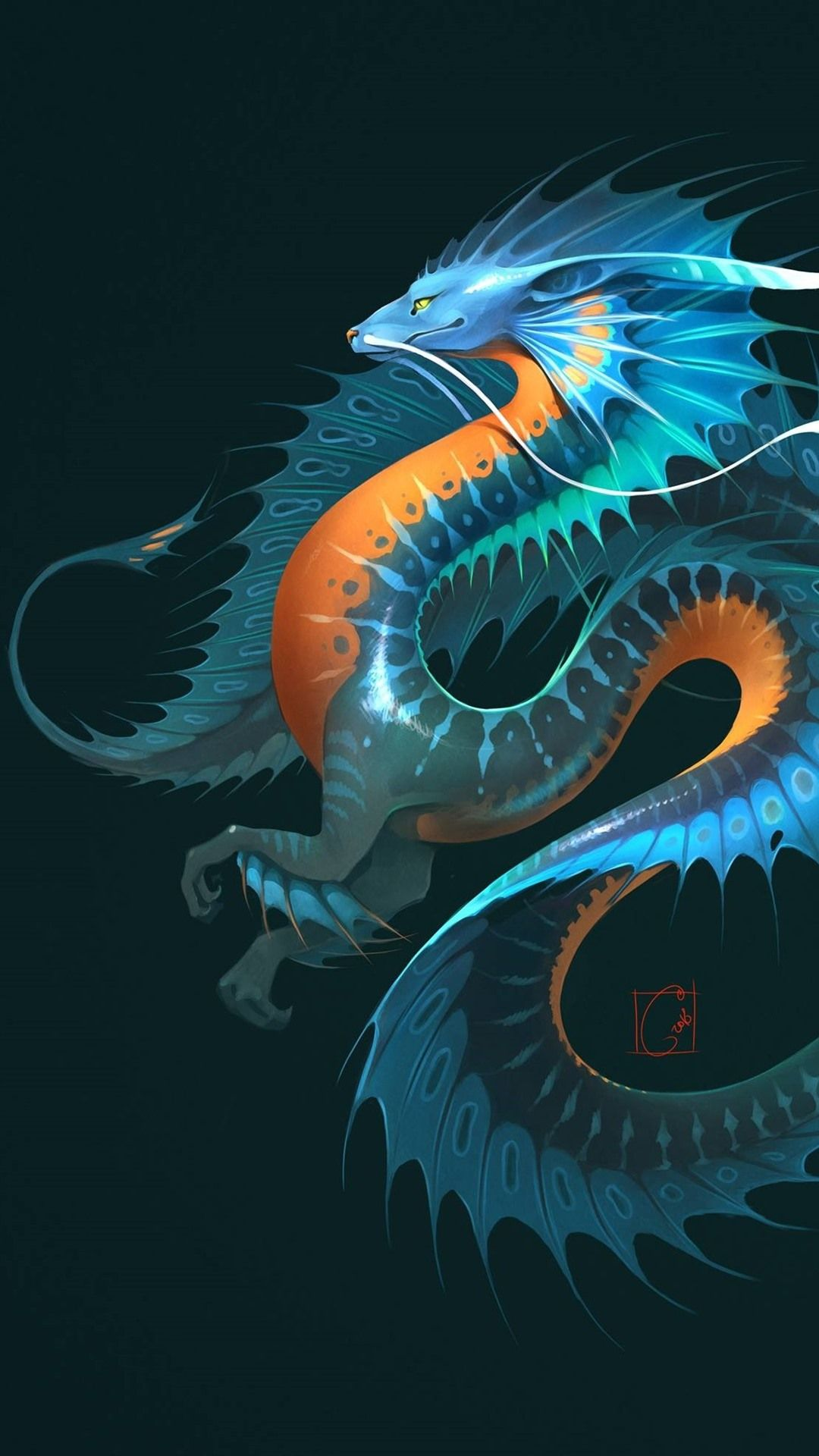 Dragon Background In 2020 Wallpaper Iphone Neon Dragon Images Iphone Art