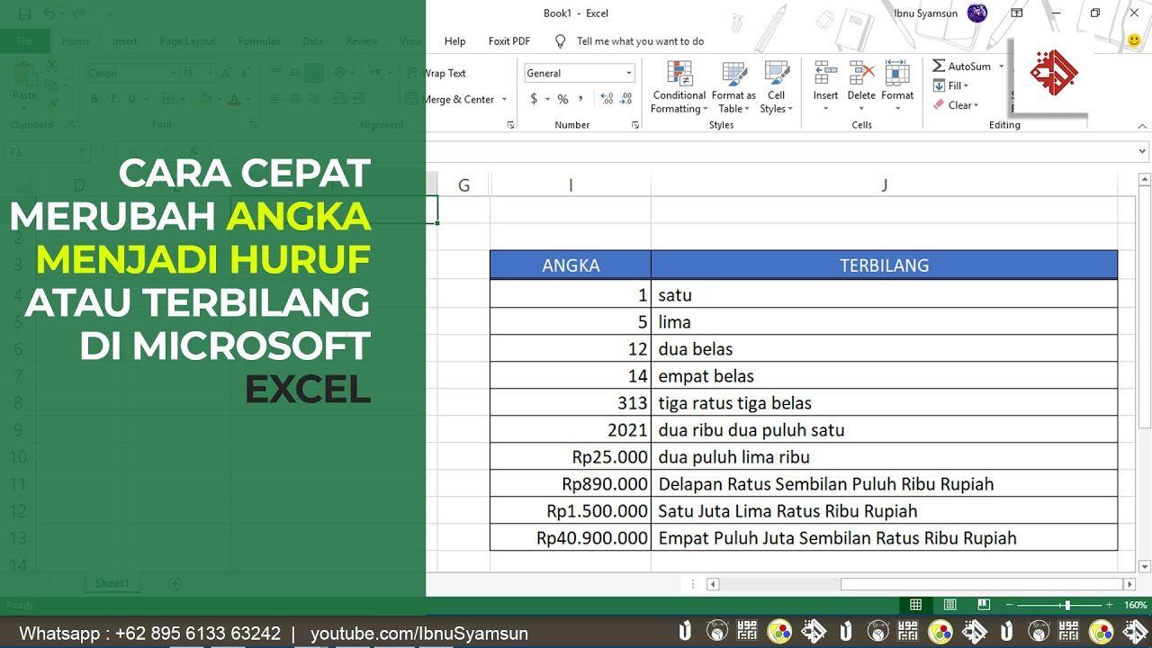 Pin Oleh Ujang Suhendar Di Tutorial Microsoft Excel Di 2021 Huruf Microsoft Youtube
