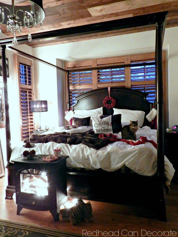 Cozy Christmas Bedroom At Night
