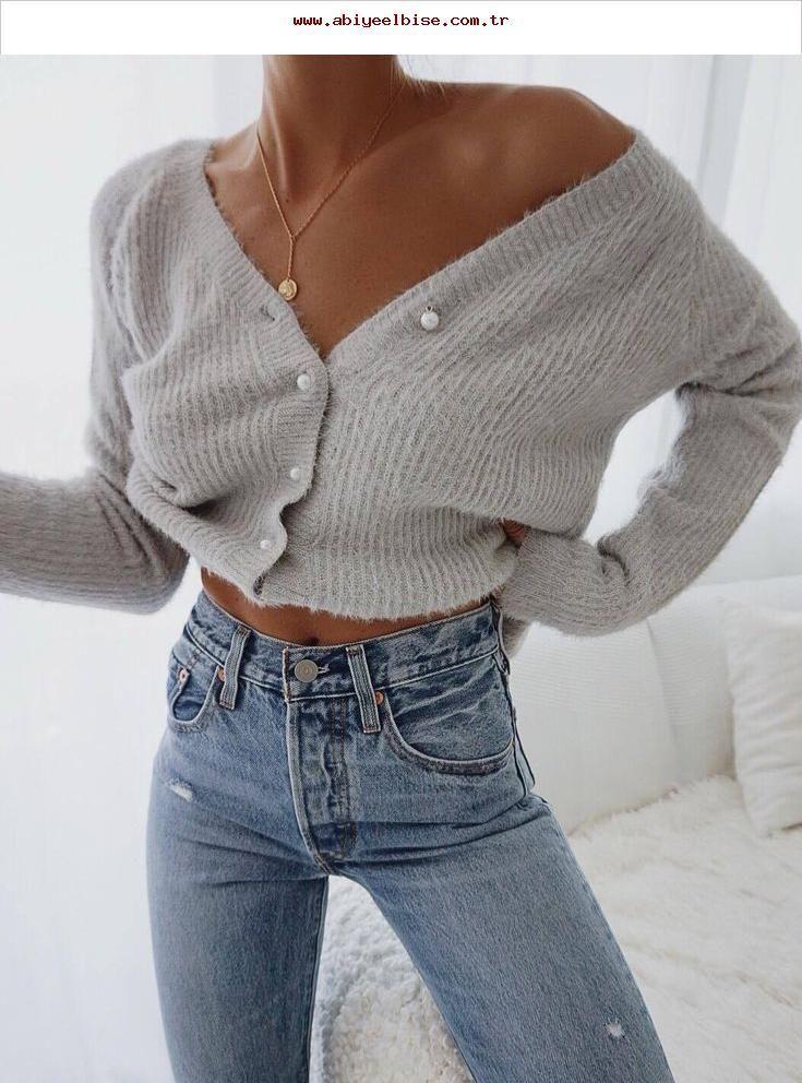 Photo of enkelt antrekk for denne høst / grå cardigan og tynne jeans – # dette …