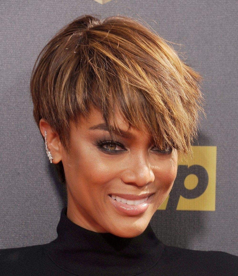 Tyra Banks Wants You To See What She Looks Like With No Makeup Short Hair Styles Short Sassy Haircuts Tyra Banks Hair