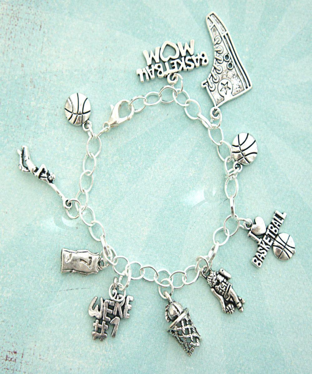 Basketball Charm Bracelet: I Love Basketball Charm Bracelet