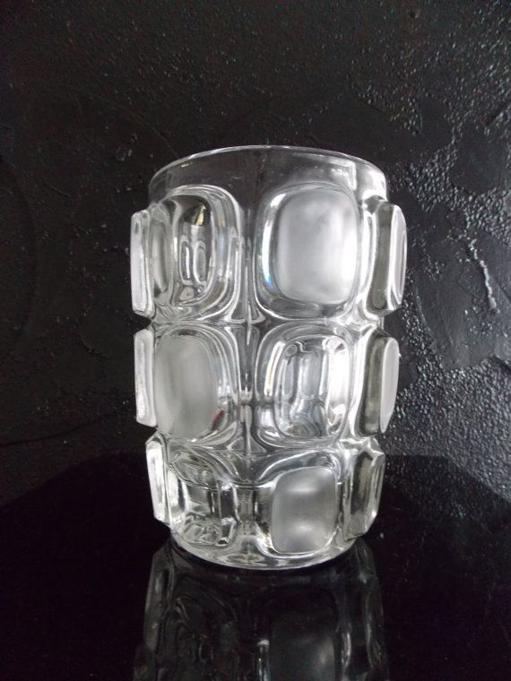Vintage 1960s Modernist Abstract Glass Vase Mid Century Etsy Mid Century Scandinavian Glass Vase Clear Glass Vases