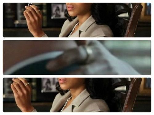 The ring Olivia Pope wears on her index finger is by MoniquePean com