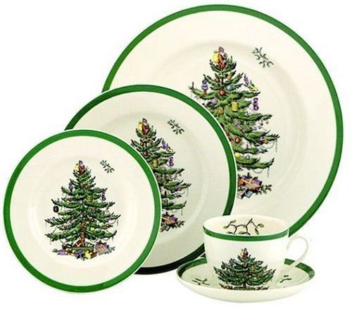 Spode Christmas Tree 5-Piece Dinnerware Set, Service for 1 by Royal