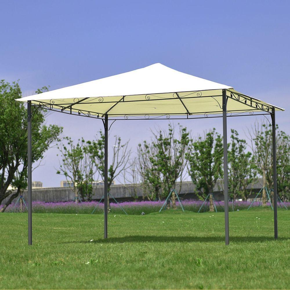 10 X 10 Square Gazebo Pergola Steel Frame Shed Kiosk Paviliion Canopy Awning Unbranded Spitia Gia To Spiti