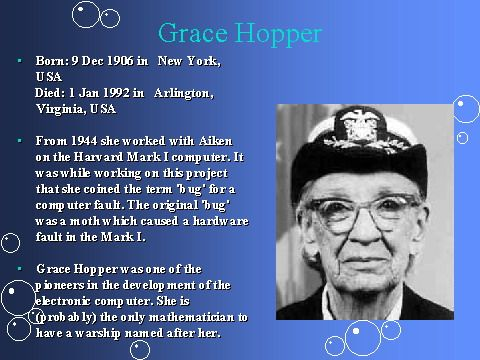 grace hopper mother of cobolthats why they called her amazing grace when they werent calling her admiral hopper - Grace Hopper Resume Database