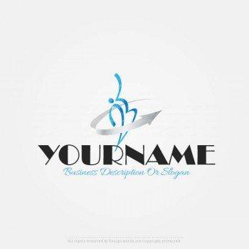 Create A Logo Template Human Arrow Logo Design In 2020 Business Name Generator Free Logo Templates Logo Design