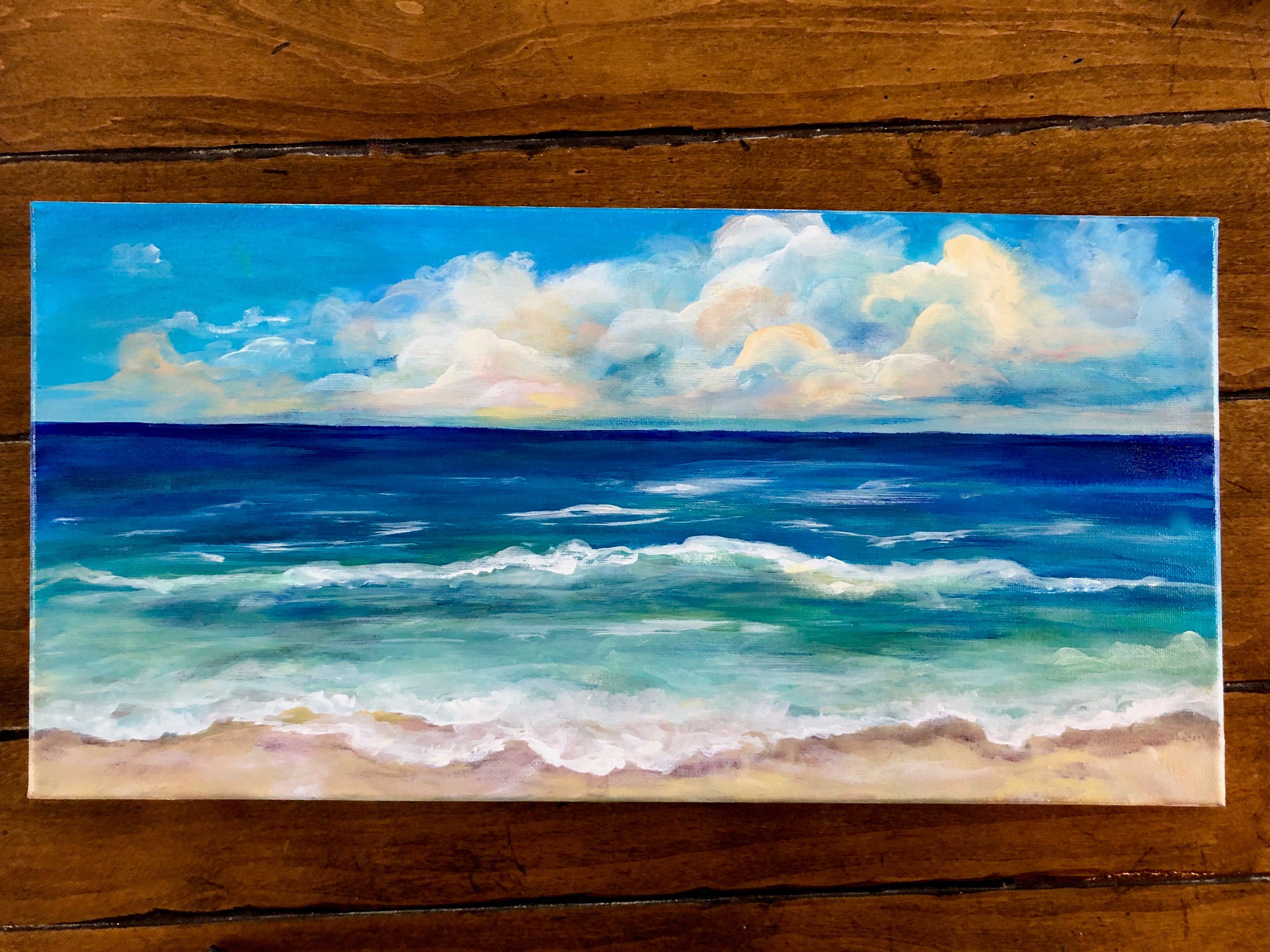 Beach Painting Horizontal Art