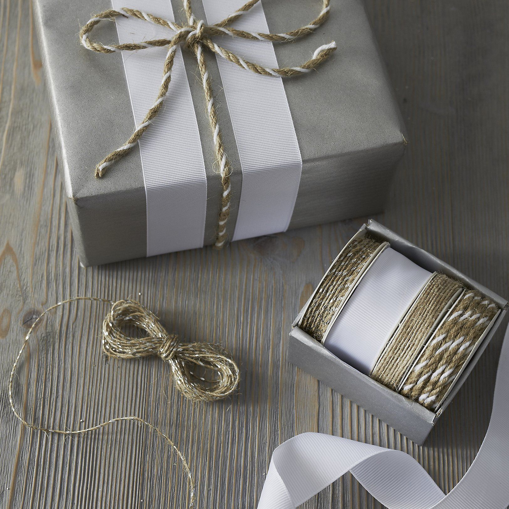 Kraft Ribbon Box - Set of 4 | Wrapping Accessories | Cards & Wrap ...
