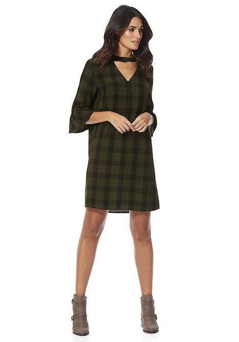 d5da45775769 Tesco direct  F F Checked Choker Tunic Dress