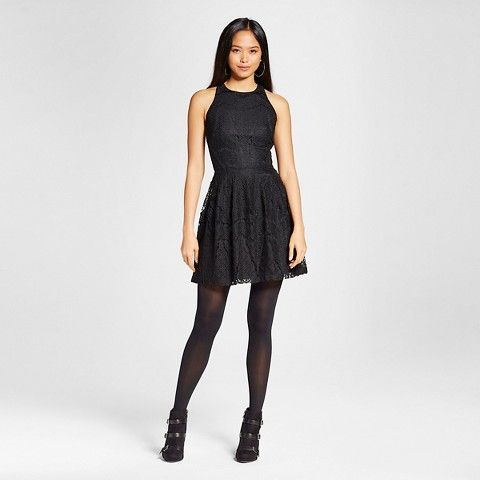 54bfefb7 Women's Lace Fit and Flare Dress Black - Mossimo - target - $30 ...