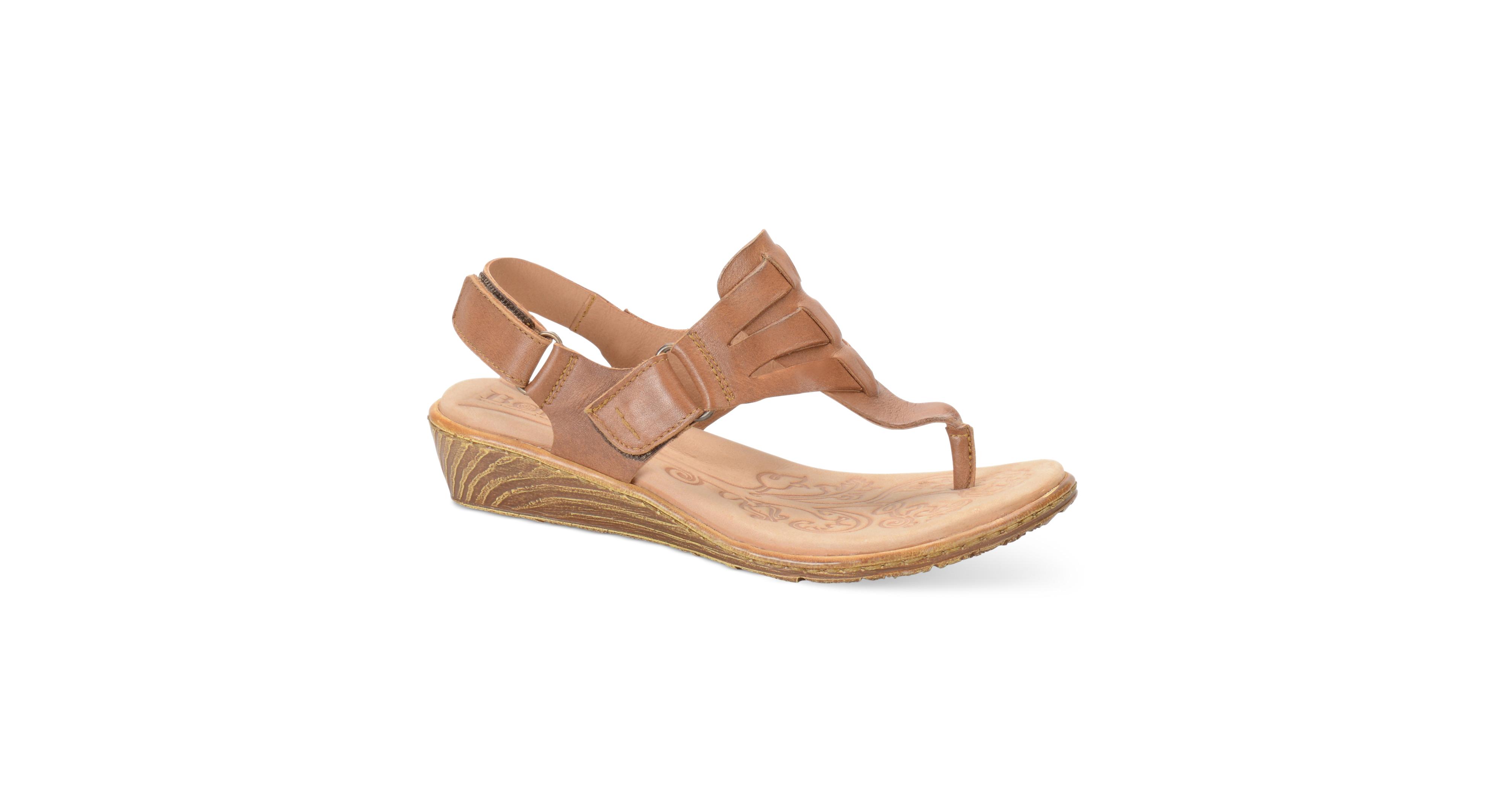 024c88496d4b Born Karis Wedge Thong Sandals