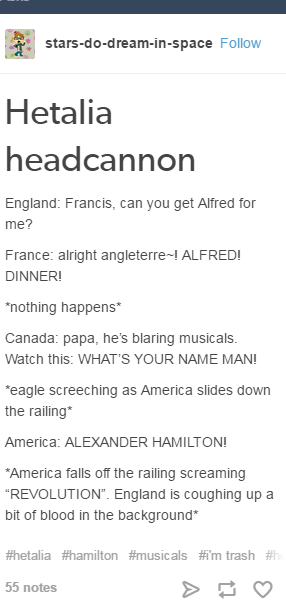 O my Im so obsessed with hamilton at the moment and than it
