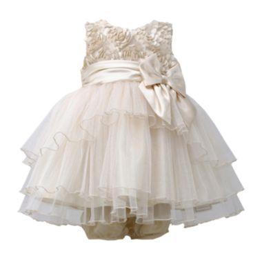 d216d4850 Bonnie Baby Gold Ruffle Dress - Girls newborn-24m found at @JCPenney ...