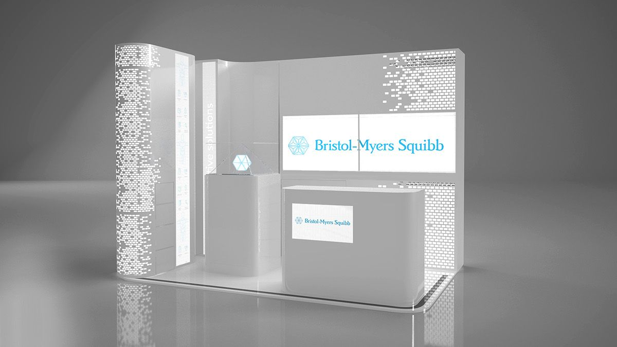 Exhibition Stand Builders Bristol : Modular stand exhibition for bristol myers squibb on behance