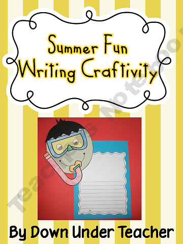Summer Fun Writing Craftivity