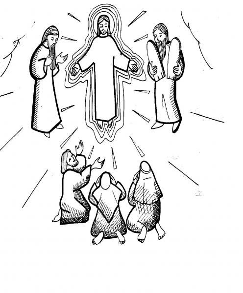 Transfiguration Of Jesus Coloring Page Bible Jesus Bible