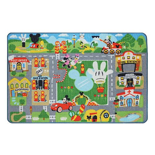 Disney Mickey Mouse Club House Mickey Town Game Rug Ga
