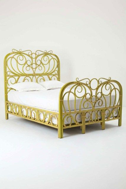 anthropologie radana rattan bed beds bed frames wooden houseandgardenco