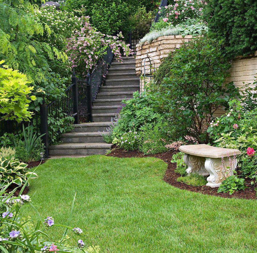 Garden Tour: Tame a Steep Backyard in 2020 | Steep ... on Steep Hill Backyard Ideas id=16383
