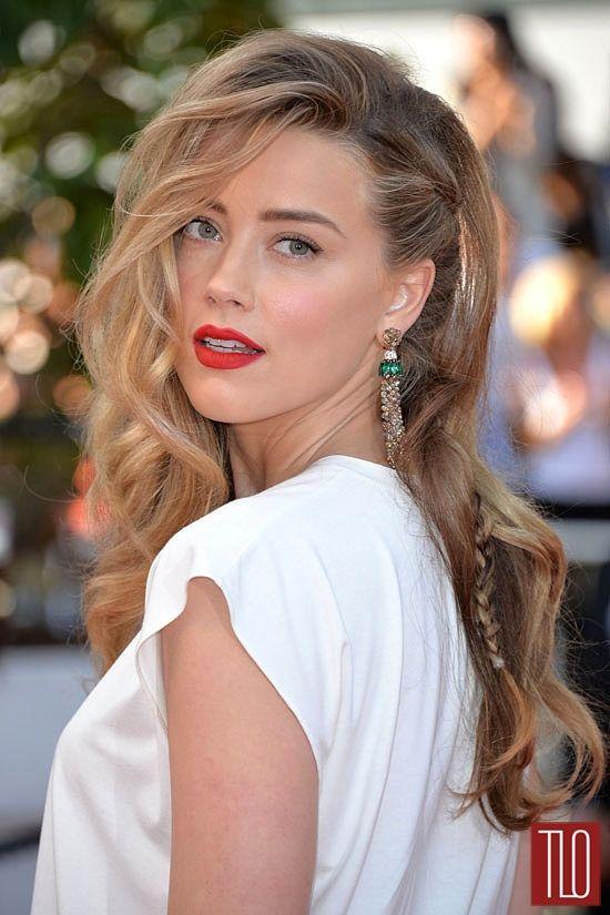 Amber Heard At Cannes Amber Heard Hair Amber Heard Hairstyle