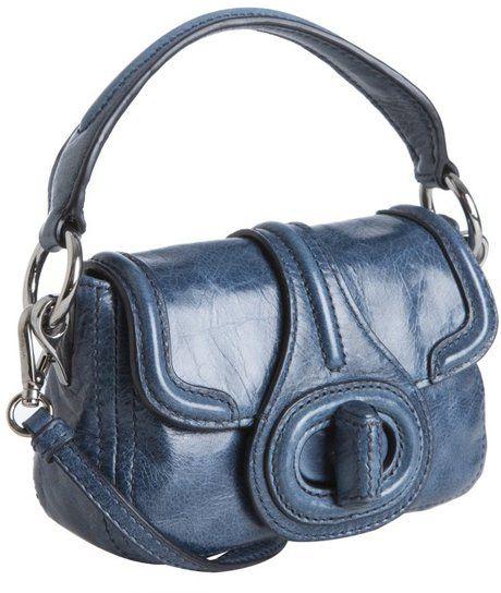 42a942a9ca43 PRADA Denim Shined Leather Mini Crossbody Clutch - Lyst Cute Handbags,  Beautiful Handbags, Italian