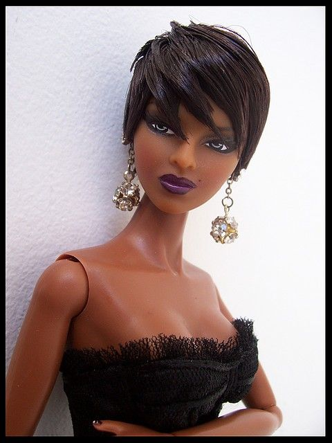 Black Barbie Black Barbie Short Hair Styles Black Doll