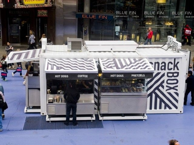 Snack Box. Container built mobile snack bar. NYC
