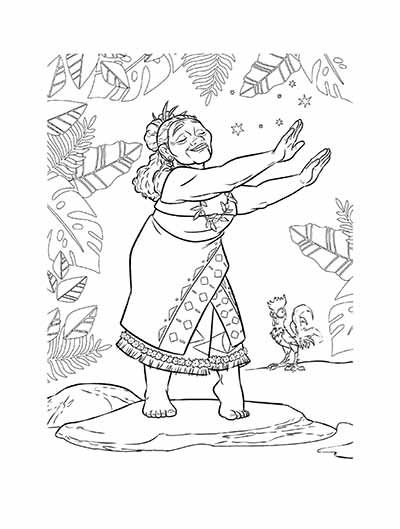 59 Moana Coloring Pages (May 2019)...Maui Coloring Pages