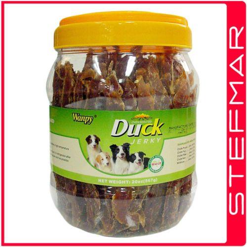 Wanpy Duck Jerky Strips 567G Jar Dogfood pets supplies