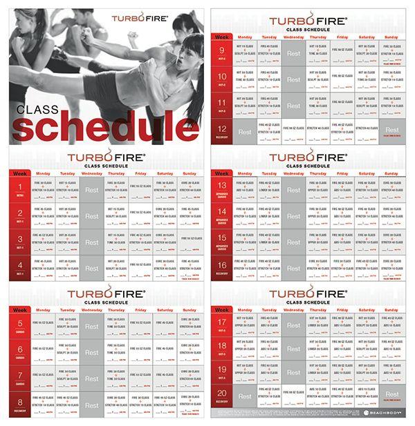 beachbody turbo fire schedule pdf - Google Search Fitness - workout calendar