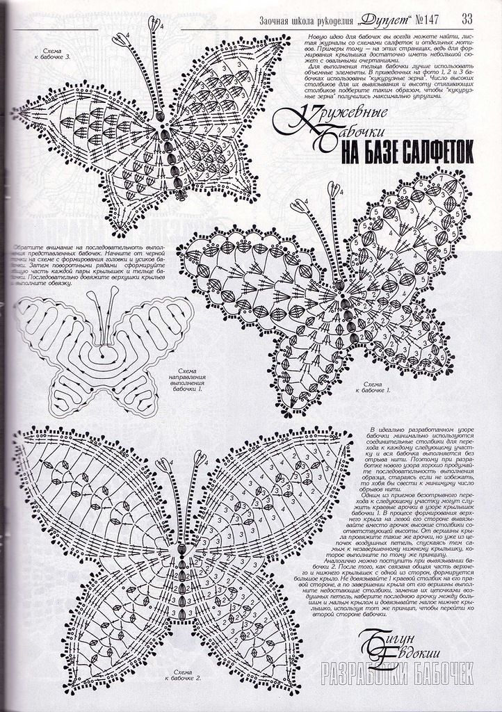 Häkeln Schmetterling crochet butterfly   Crafts: Crochet patterns ...
