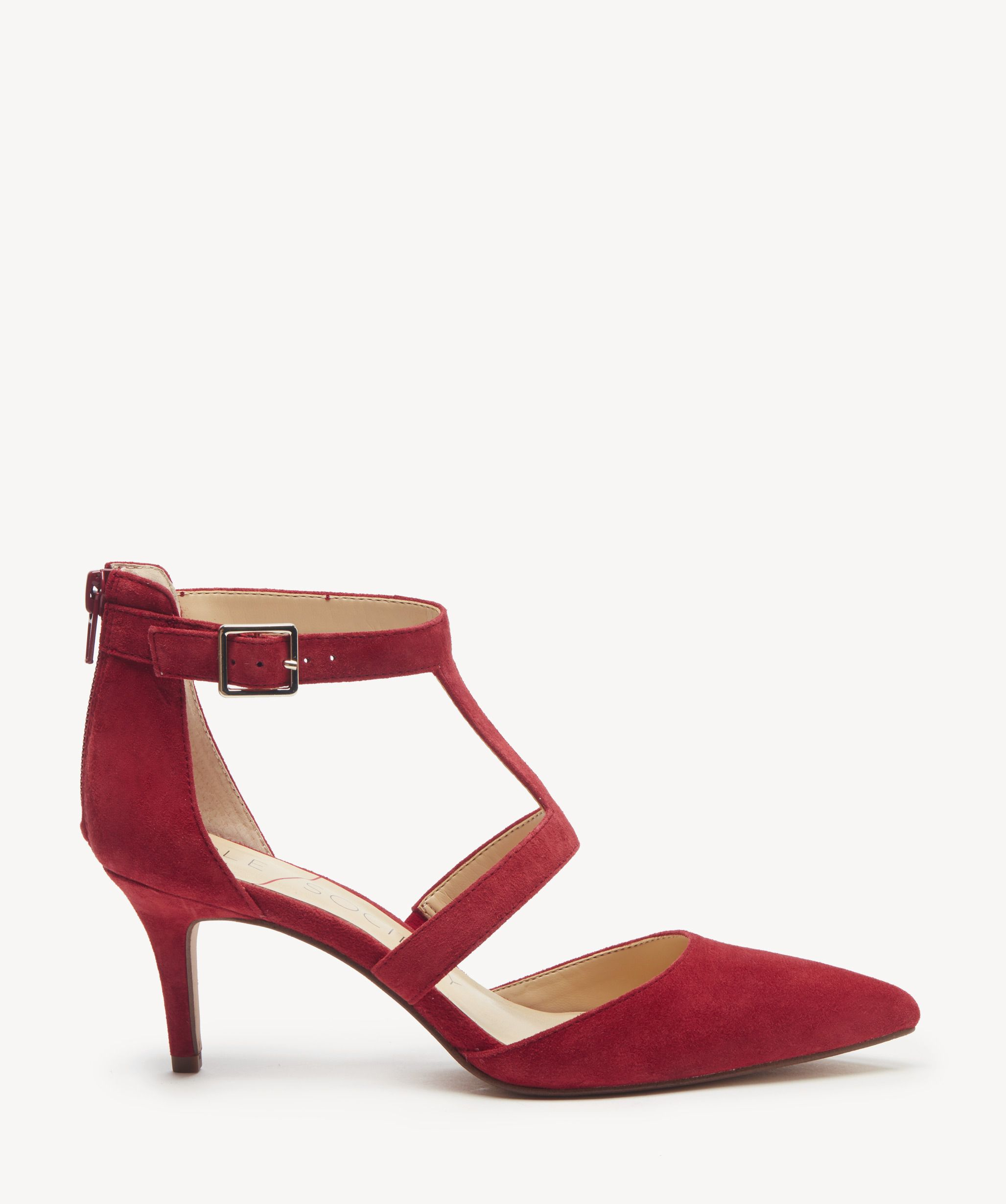 575a1c4ad68a Women s Edelyn T Strap Pumps Deep Red