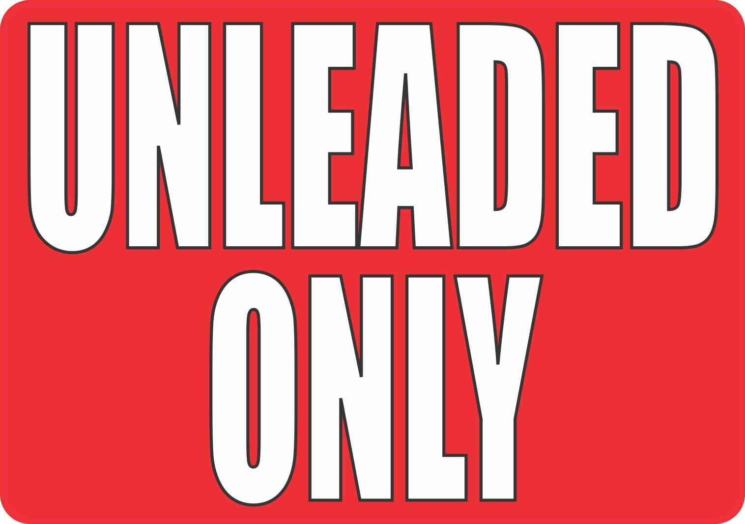 10in X 7in Unleaded Only Magnet Stickers Bumper Stickers White Letters [ 1066 x 1516 Pixel ]