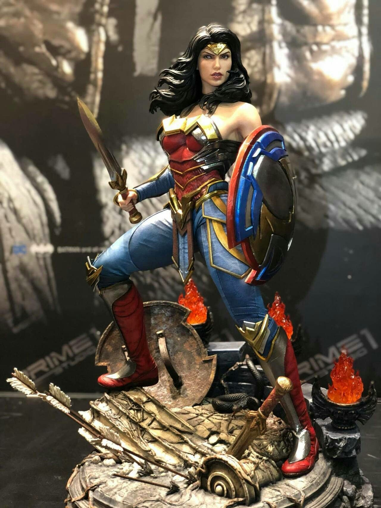 Wonder Woman Injustice 2 Statue By Prime 1 Studio Wonder Woman Warrior Woman Injustice 2