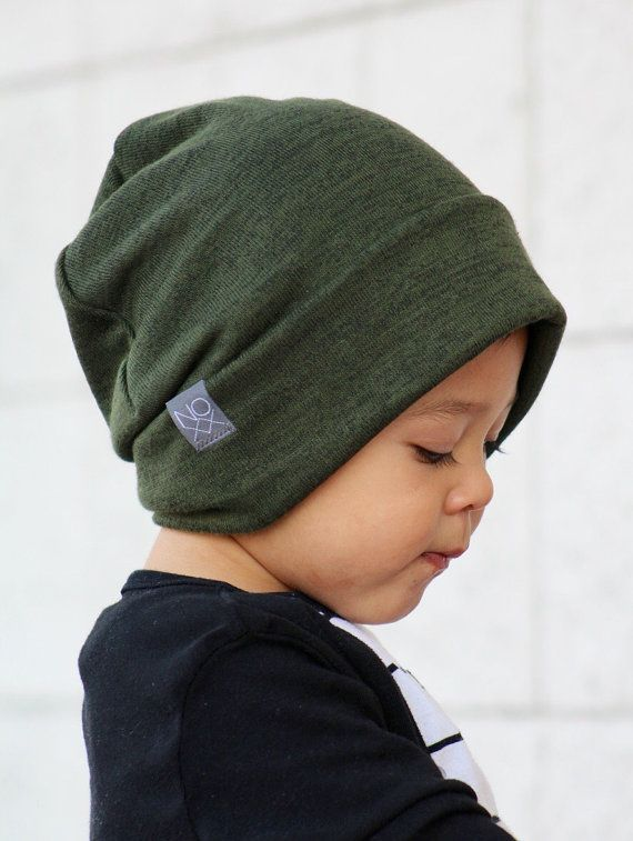 a9465c9a76e Olive Green Slouchy Beanie   Unisex by NOXXaz on Etsy