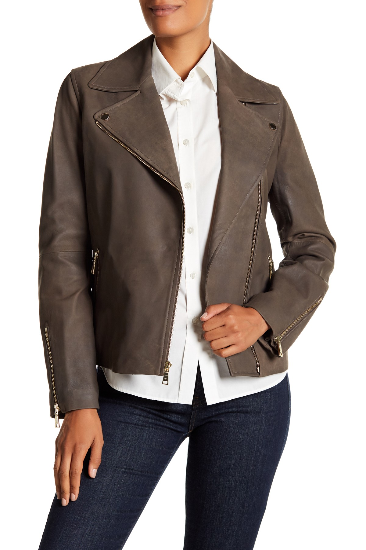 230 Skylar Leather Jacket By T Tahari On Nordstrom Rack Leather Jacket Jackets Mens Jackets [ 1800 x 1200 Pixel ]