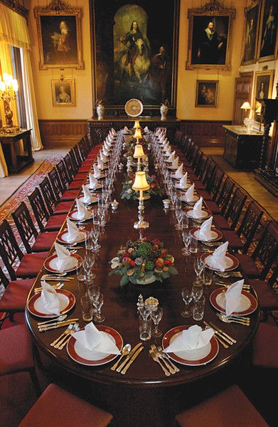 Dining room at highclere castle downton abbey tea for Dining room 101 heswall