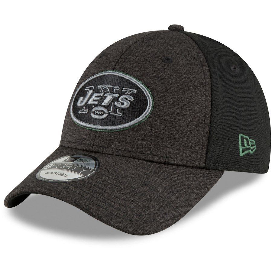 123213f65af New York Jets New Era Historic 9FIFTY Adjustable Snapback Hat - Heathered  Charcoal Kelly Green  NewYorkJets