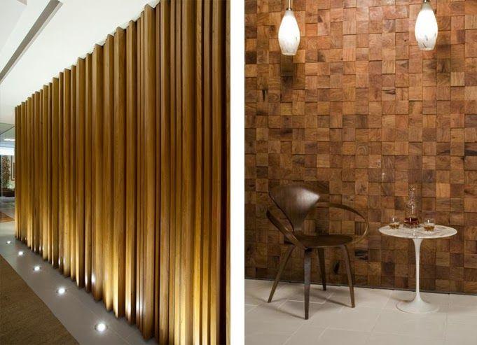 Revestimientos de madera reciclada inspiraci n espacios - Techos decorativos de madera ...