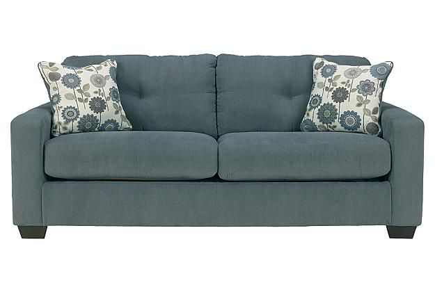 Large Two Person Blue Sofa View 1 Furniture Ashley Furniture