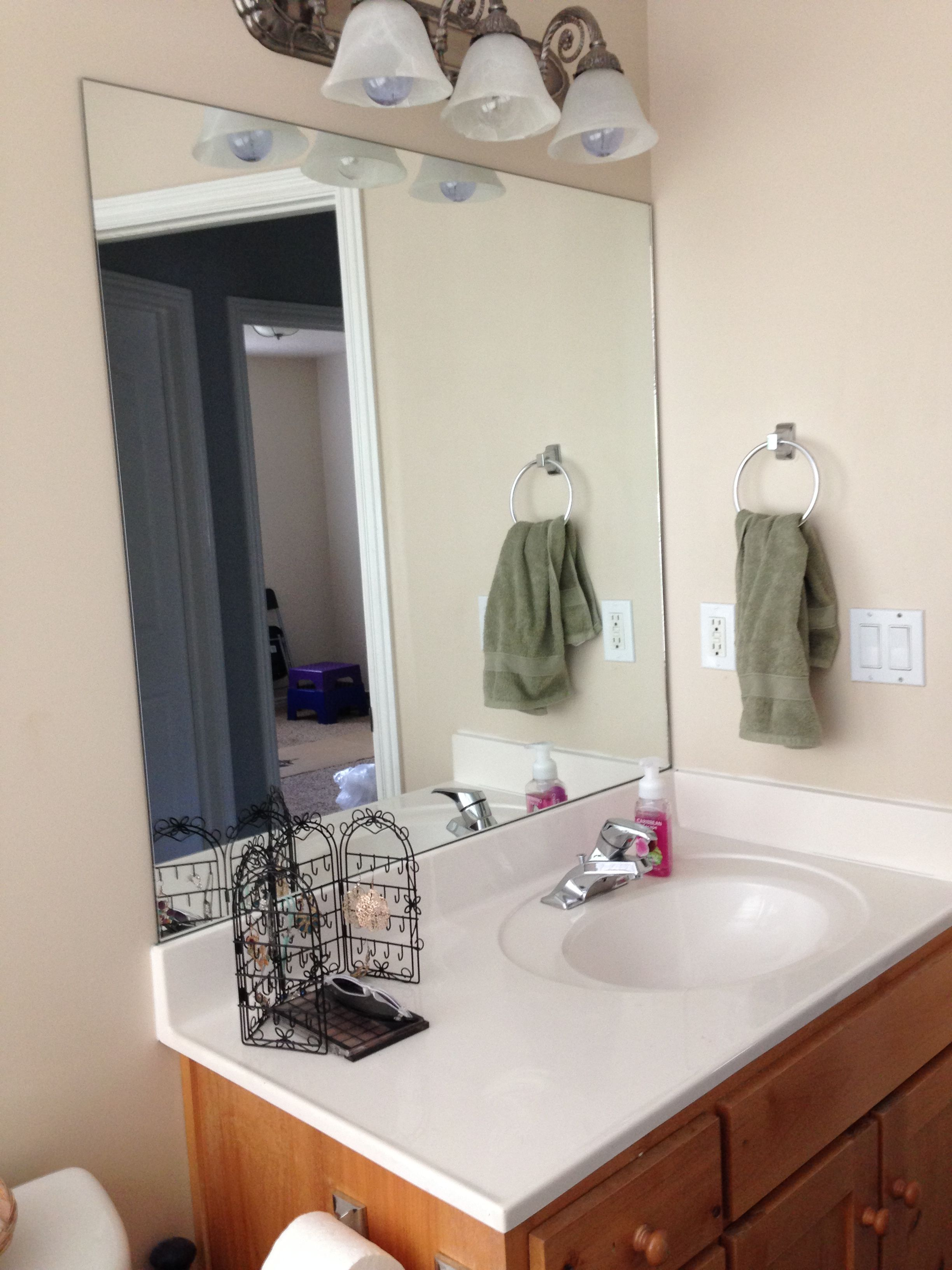 Bathroom Mirror Frame Kit Canada Bathroom Mirror Frame Bathroom Mirrors Diy Bathroom Mirror