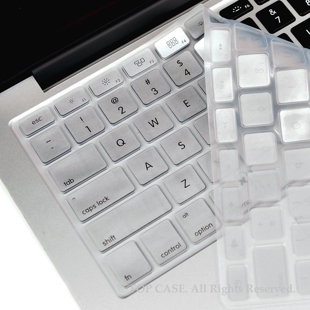 "WHITE  Keyboard Cover Skin for Macbook Air 13/""  ..."
