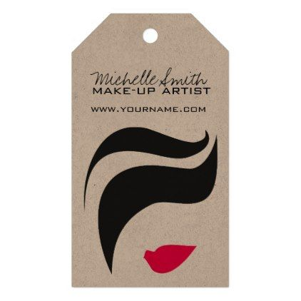 #beauty - #Makeup Icon Woman face in black white pink lips Gift Tags